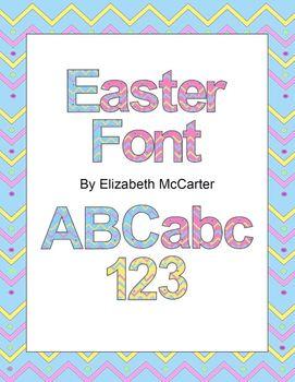 Font Clip Art: Easter