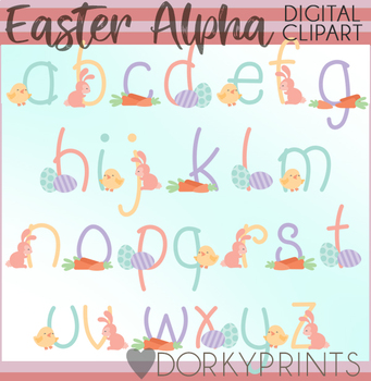 Easter Font Clipart