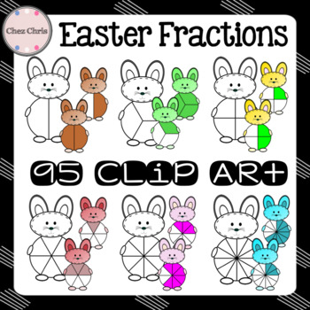 Easter Fractions Clip Art