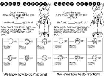 Easter Fractions Activity