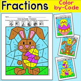 Easter Math Color by Fractions Bundle - Easter Bunny, East