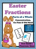 Easter Fractions Part of a Whole Concentration, Go Fish an