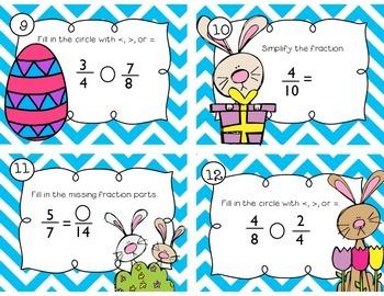 Easter Fractions Task Cards
