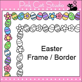 Borders - Easter Frame / Border Clip Art - Personal & Commercial Use
