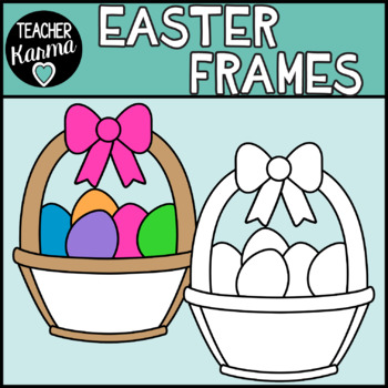 Easter Frames Clipart, Holiday Borders