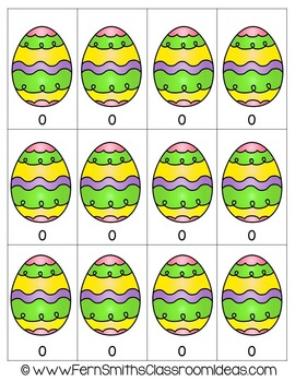 Easter Math A Quick and Easy to Prep Multiply By Zero Center Game Freebie