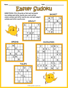 Easter Sudoku Puzzles