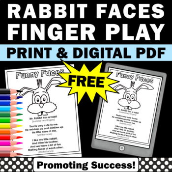 free Easter printable activities activity finger play for kids