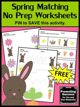 FREE Spring Worksheets, Matching & Tracing Activities, Easter Worksheets