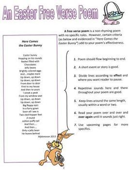 Easter Free Verse Poems