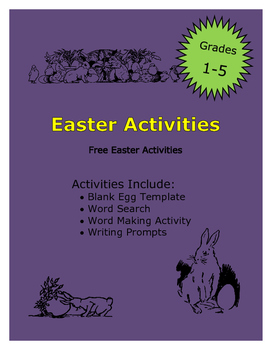 Easter Free Writing Activities and Word Search