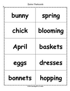 Easter Freebie ~ Bingo-Style Word Game
