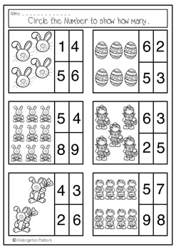 Easter Freebie Count and Circle Numbers to 10.