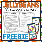 Easter Reading Comprehension Passage and Jelly Bean Bookmarks