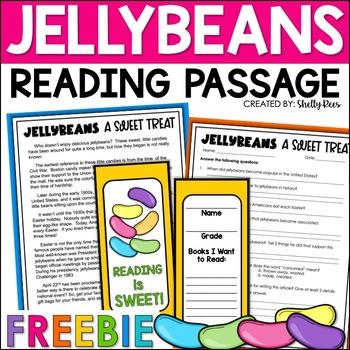 Easter Freebie!  Jellybean Reading - Informational Text an