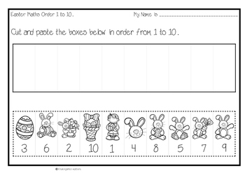 Easter Freebie, Order numbers 1 to 10