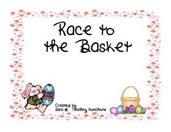 Easter Freebie- Race to the Basket!