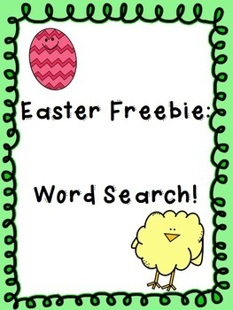Easter Freebie: Word Search