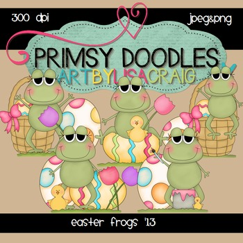 Easter Frogs 300 dpi clipart
