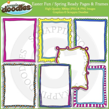Easter Fun / Spring 8 1/2 x 11 Ready Pages