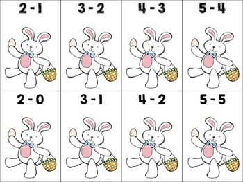 Easter Fun Activity or Center {Add and Cover} and {Subtract and Cover}