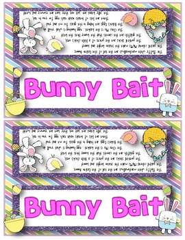 picture regarding Bunny Bait Printable known as Easter Entertaining - Bunny Bait Snack Mixture Pleasurable Poem and Bag Toppers