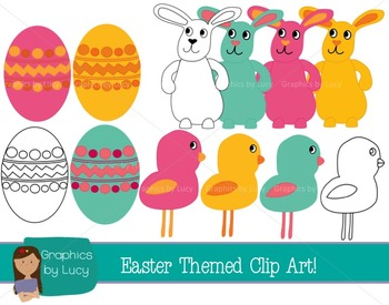 Easter Fun Clip Art! 21 PNG Files {Personal and Commercial Use}