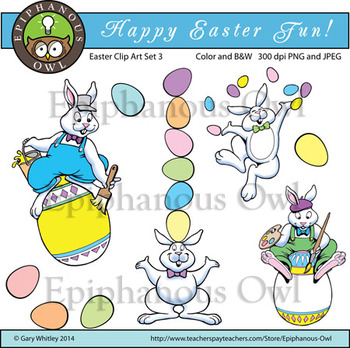 Easter Fun Clip Art Set 3