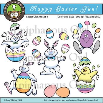 Easter Fun Clip Art Set 4