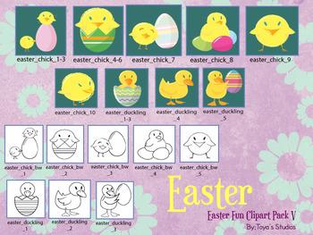 Easter Fun Clipart Pack V