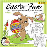 Easter Fun Color by Number Easter Bunny Coloring Worksheets