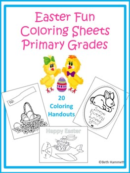 Easter Fun Coloring Sheets