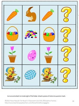 Easter Math and Literacy File Folder Games for Interactive Centers and Stations