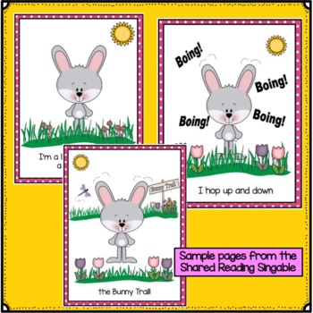 Easter Song!  I'm A Little Bunny Shared Reading Singable