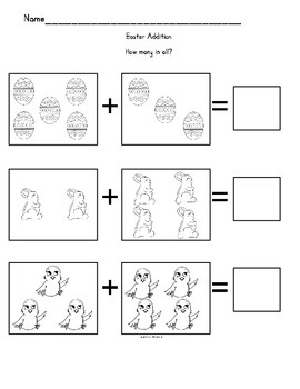Easter Math Fun Packet
