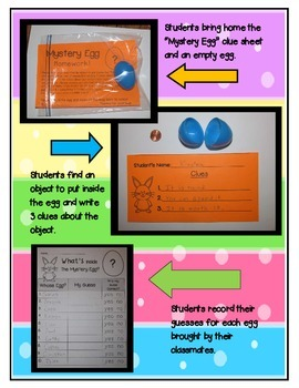 Easter Fun!  Mystery Egg Homework