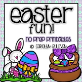 Easter Fun-- NO PREP Math and Literacy Printables