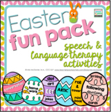 Speech and Language Therapy Activites and Homework - Easter Fun Pack!