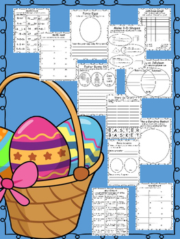 Easter Fun Packet. 10 activities that are academic and FUN FUN FUN!!!