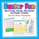Easter Fun Printables with word finds, puzzles, mini-books & Easter Cookies