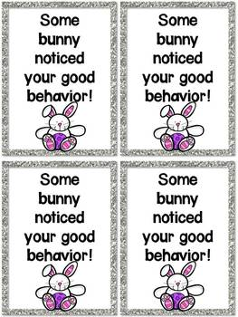 Easter Fun Recognizing Good Behavior {freebie}