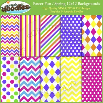 easter fun spring backgrounds by scrappin doodles tpt
