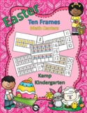 Easter Fun Ten Frames Clip Cards Math Centers for Quantities of 0 to 20