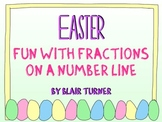 Easter Fun With Fractions on a NUMBER LINE