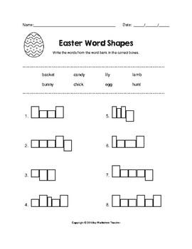 Easter Fun Worksheet Pack (K-2)