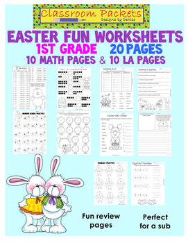 Easter Fun Worksheets Packet