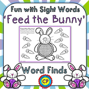 Fun with Sight Words - 'Feed the Bunny!' Word Finds