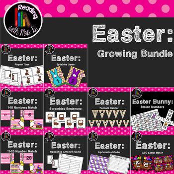Easter GROWING Bundle of Math and ELA Centers