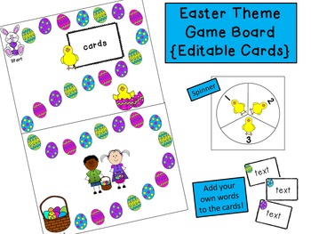 Easter Game Board {Editable Cards}