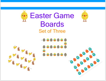 Easter Game Boards